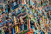 stock photo of meenakshi  - detail of meenakshi temple in madurai india - JPG