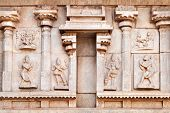 picture of belur  - Hindu temple wall with ornate carving Asia - JPG