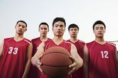 Basketball team, portrait