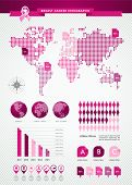 Breast Cancer Awareness Ribbon Global Infographics Eps10 File.
