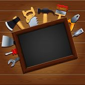 Vector illustration of a set of tools