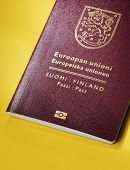 foto of passport cover  - Finnish  - JPG