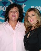 LOS ANGELES - SEP 9:  Dot Marie Jones, Bridgett Casteen at the FOX Fall Eco-Casino Party at The Bung