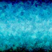 Abstract Blue black triangle background
