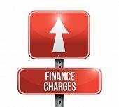 Finance Charges Road Sign Illustration Design