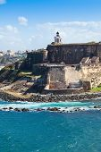 stock photo of el morro castle  - Historic El Morro Castle in San Juan Puerto Rico - JPG