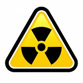 Warning radiation sign