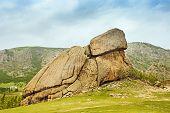 picture of mongol  - Turtle Rock in Terelj National Park Mongolia - JPG