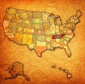 Tennessee On Map Of Usa