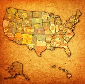 States On Map Of Usa mouse pad