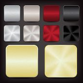 image of copper  - silver copper red black and gold metallic app icons - JPG