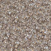 stock photo of sand gravel  - Seamless Texture of Fragment Soil Mixed with Gravel - JPG