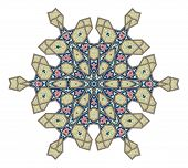 stock photo of ottoman  - Arabic middle eastern floral pattern motif based on Ottoman ornament - JPG