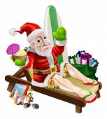 Santa Claus Beach Vacation