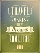 Travel Typographic Vintage Design.