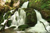Waterfalls, water movement. Arroyo Valdecuevas, Leon