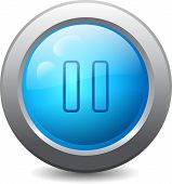 Web Button With Pause Icon