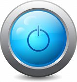 Web Button With Power Icon