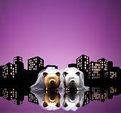 Metropolis City Lesbian Piggy Bank Civil Union