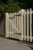 Wooden picket gate