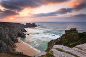 Dawn On Treen Cliffs Cornwall