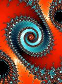 Colored fractal spiral
