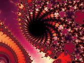 Pink fractal background