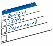 Qualified Skilled Experienced