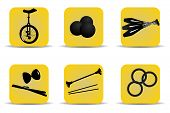 Juggling Icons Yellow