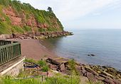 Maidencombe beach and cove Devon between Torquay and Teignmouth
