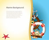 Marine Background With Sailor Items