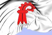 Flag Of Basel-landschaft, Switzerland.