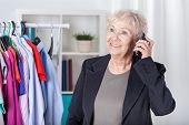 Senior Woman Arranging Meeting