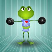 Frog Weightlifting In The Gym