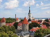 Scenic Summer Aerial Panorama Of Tallinn
