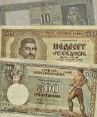 Old Serbian paper money