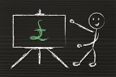 Pound Currency Symbol In Blackboard Design