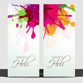 Beautiful banner set design with with colours splash.