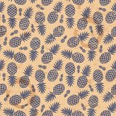 stock photo of exotic_food  - Beautifull Vintage pineapple seamless for your business - JPG