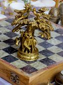 Bronze Decorated Chess Piece