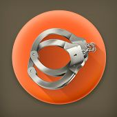 Glazed ring donut, long shadow vector icon