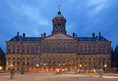 Royal Palace Of Amsterdam In Dam Square