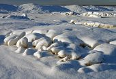 Winter, Snow Drifts, Background
