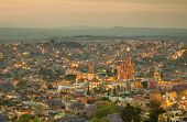 Skyline Of San Miguel De Allende In Mexico After Sunset