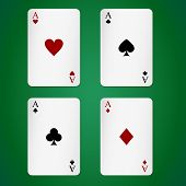 picture of ace spades  - Aces playing cards individually - JPG