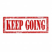 Keep Going-stamp