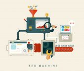stock photo of machine  - Website SEO machine - JPG