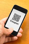QR code coupon on mobile