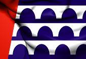 Flag Of Des Moines, Usa.