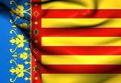 Flag Of Valencian Community, Spain.